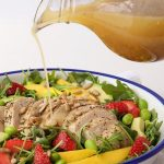 Arugula Chicken Salad with Mango and Strawberries