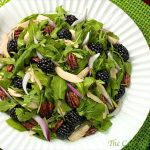 Arugula, Chicken and Blackberry Salad with Honey-Grapefruit Vinaigrette