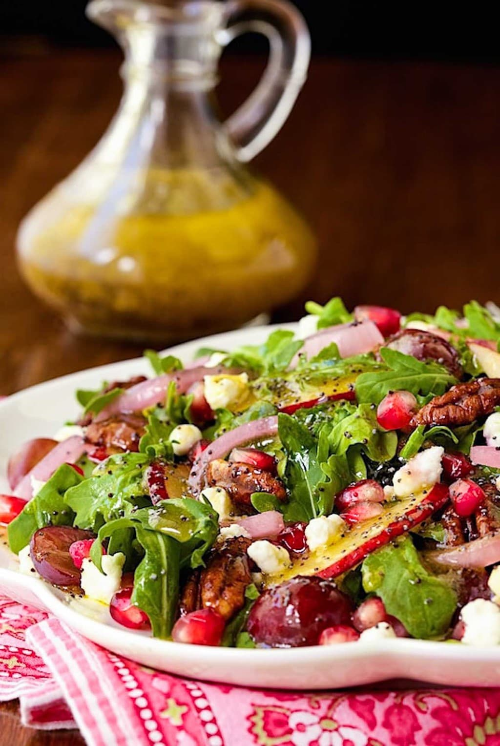 Arugula, Pom and Pear Salad