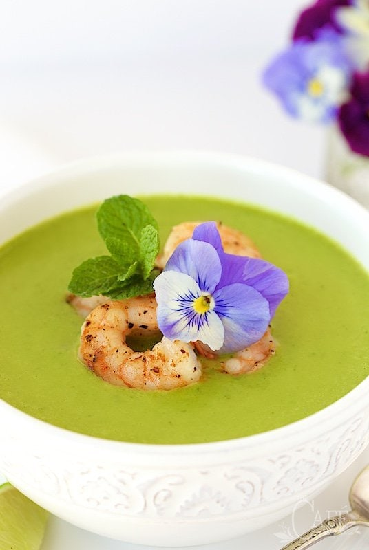 Asparagus and Shrimp Coconut Curry Soup
