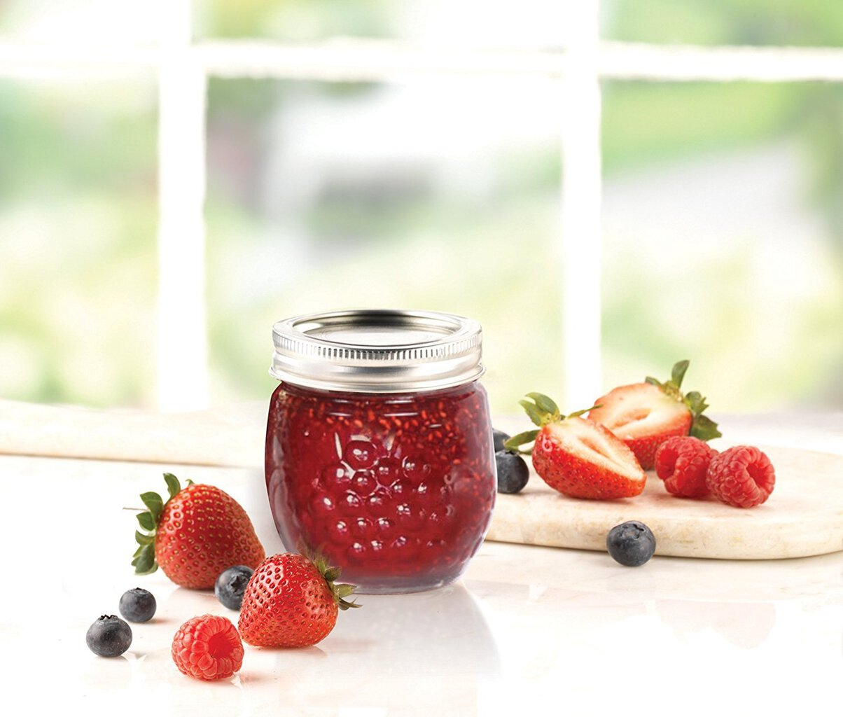 Stock photo of a Ball decorative canning jar.