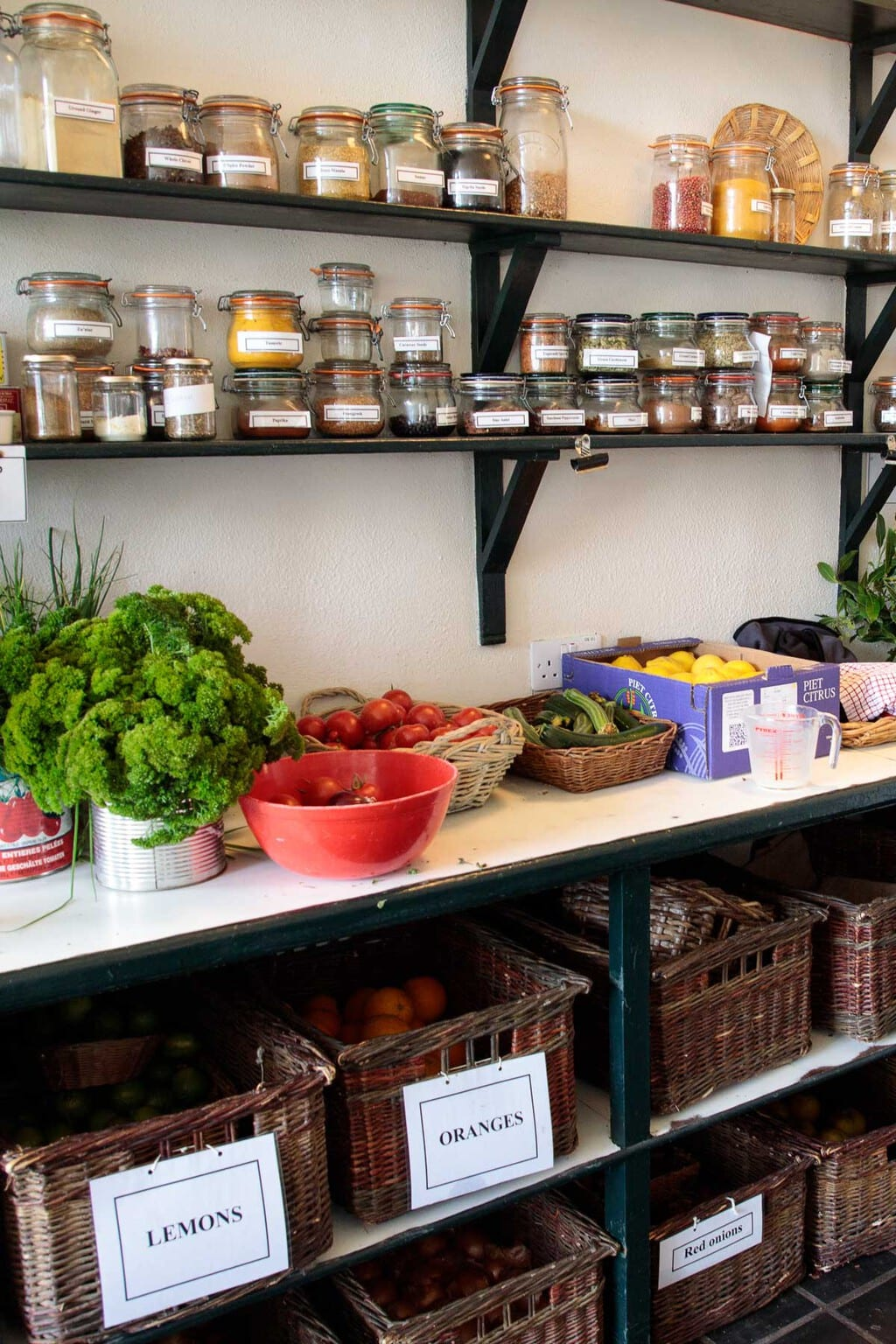 The supply pantry at Ballymaloe Cookery School.