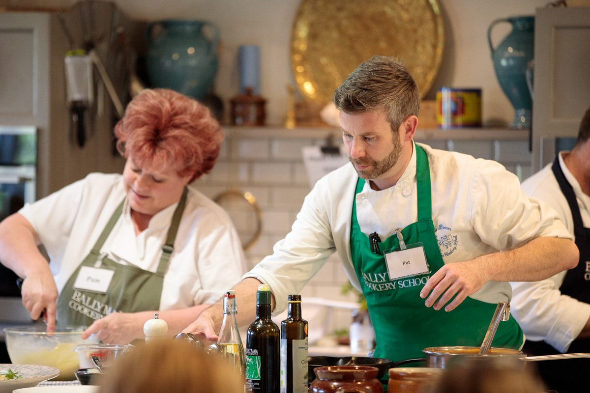 Photo of Pat and Pam, instructors at the Ballymaloe Cookery School.