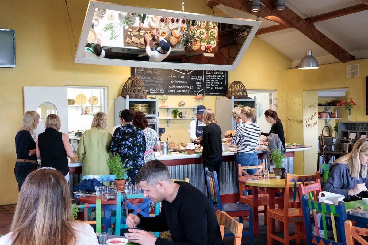 Breakfast in the Ballymaloe Cookery School cafe.