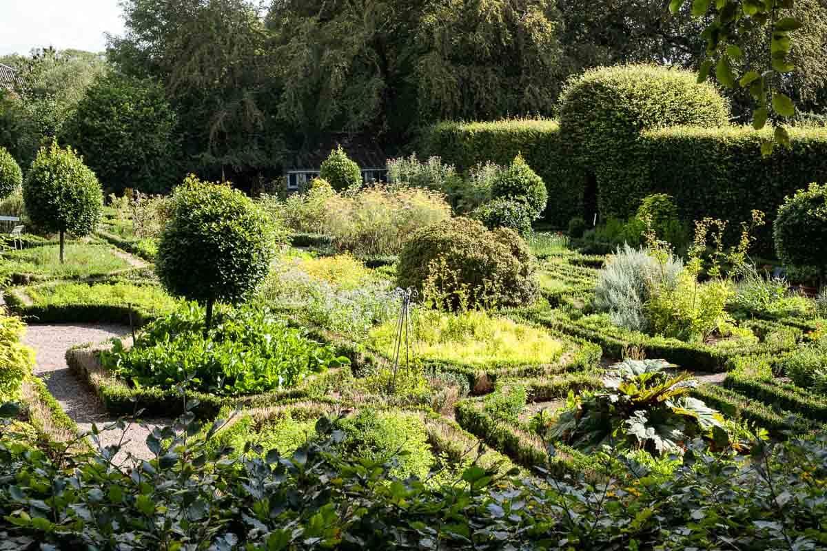 One of the formal herb gardens at Ballymaloe Farm.