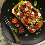 Roasted Balsamic Tomato & Mushroom Tartine