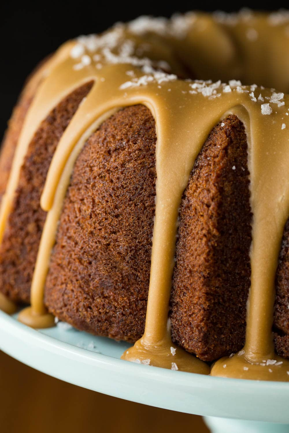Banana Pound Cake with Salted Toffee Icing | The Café Sucre Farine