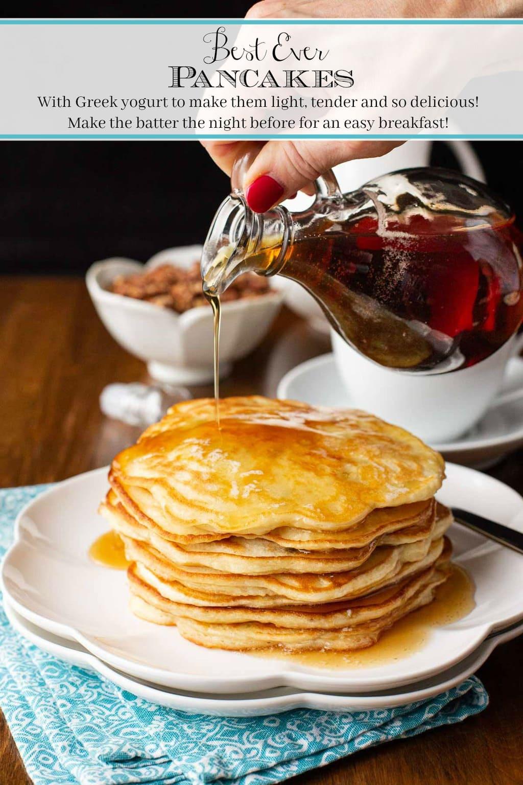 Best Ever Pancakes (with Greek yogurt)