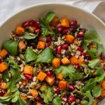 With a fabulous honey lime dressing, this healthy Black Bean, Quinoa Sweet Potato Salad is perfect for a vegetarian meal or as a side to grilled chicken or shrimp or steak. http://thecafesucrefarine.com
