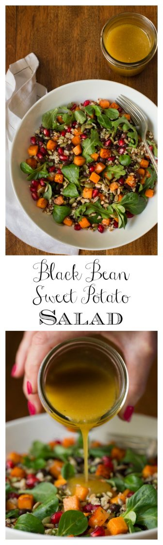 With it's spicy honey lime dressing, this healthy Black Bean Sweet Potato Salad is perfect for a vegetarian meal, or as a wonderful side to grilled chicken, shrimp or steak. thecafesucrefarine.com
