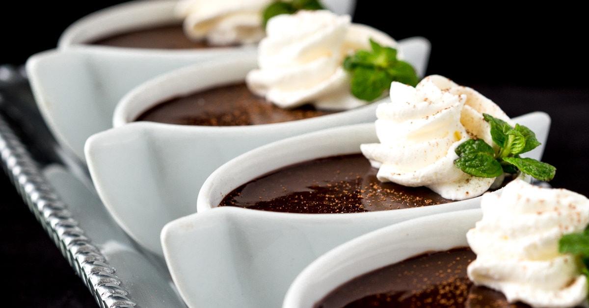 blender chocolate pots de cr me the caf sucre farine. Black Bedroom Furniture Sets. Home Design Ideas