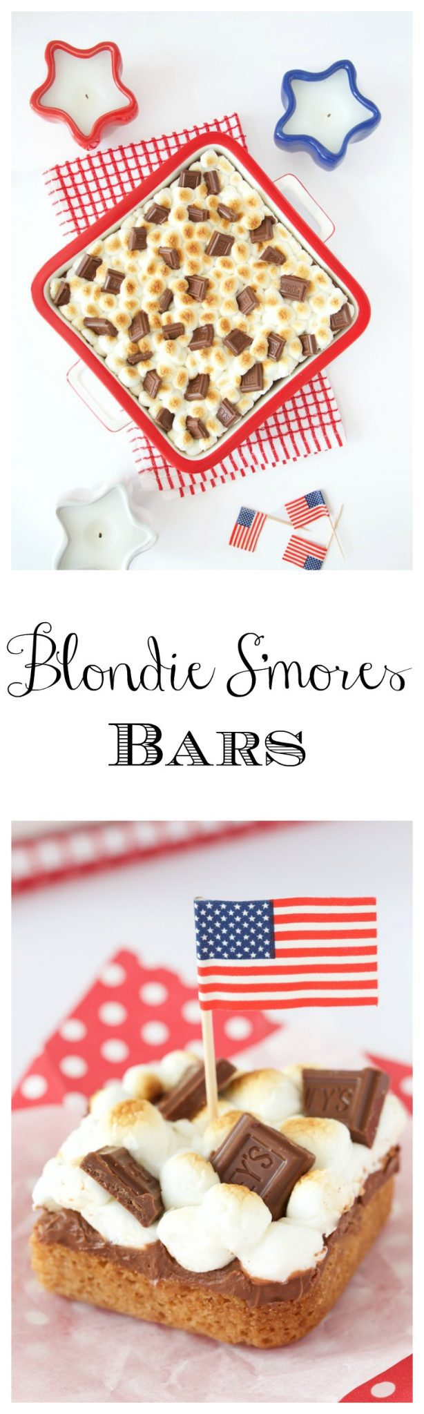 Blondie S'mores Bars - a merging of two all time favorite sweet treats, blondies and good old fashioned s'mores.
