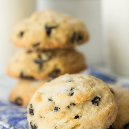 Lemon Blueberry Shortbread Cookies - loaded with fabulous flavor with no rolling, cutting out or patting!