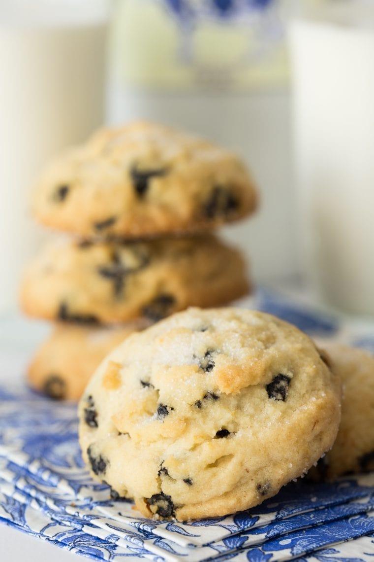 Lemon Blueberry Shortbread Cookies