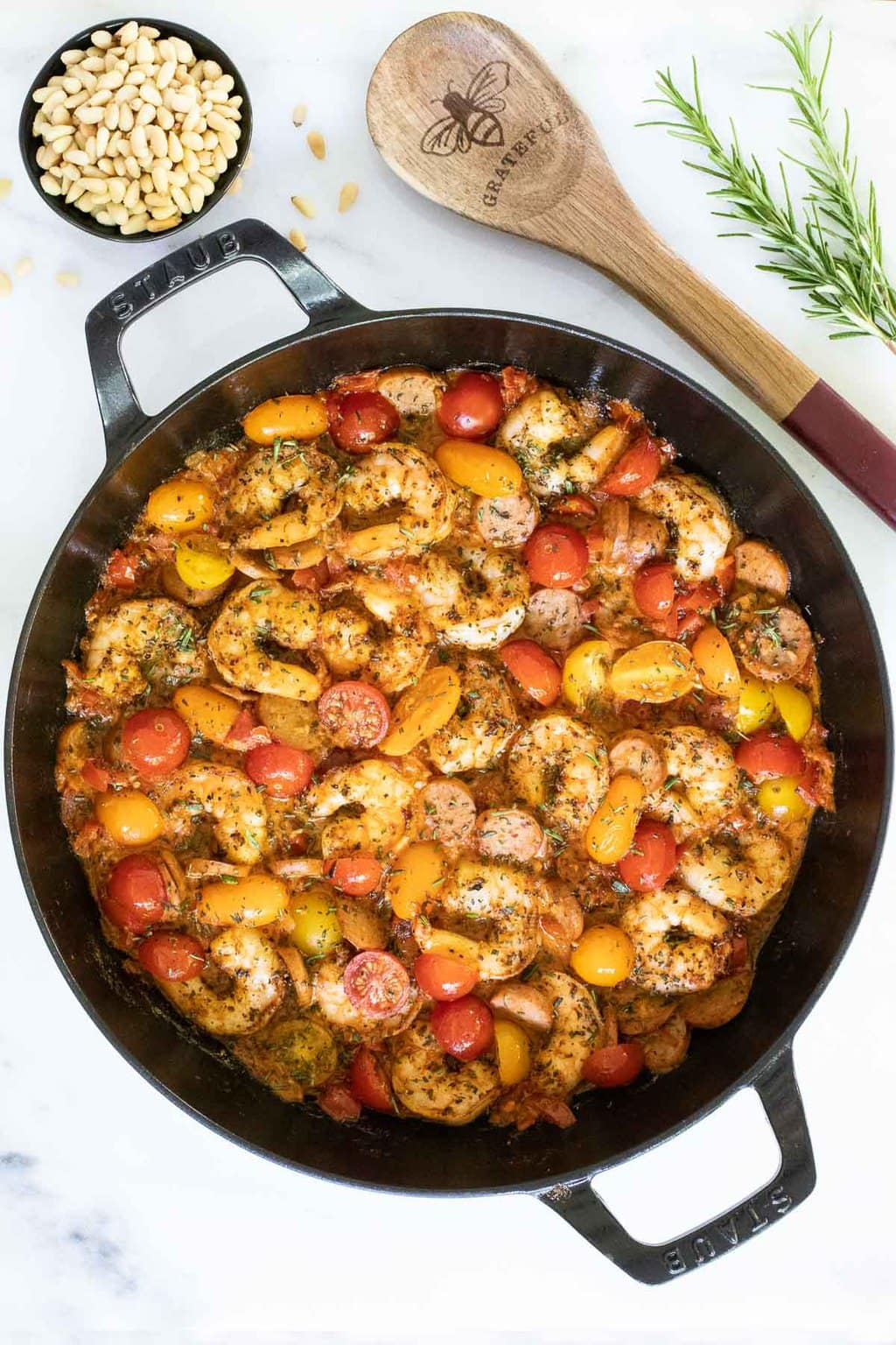 Brown Butter Tomato Shrimp and Grits