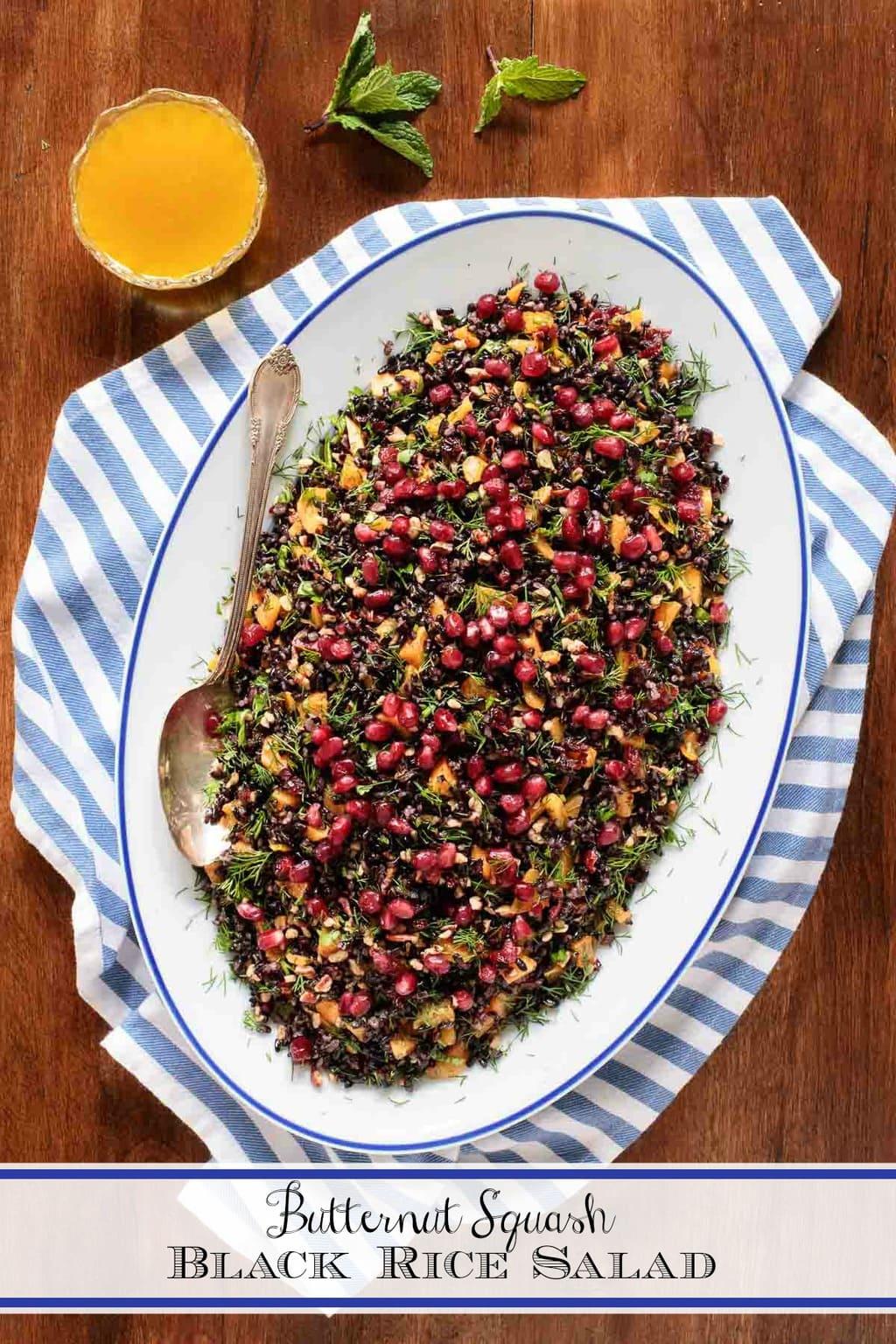 Butternut Squash Black Rice Salad