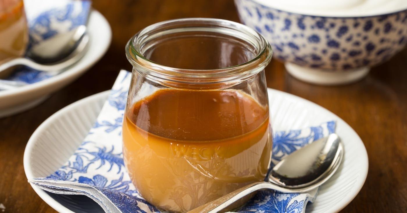 butterscotch pots de cr me the caf sucre farine. Black Bedroom Furniture Sets. Home Design Ideas