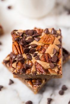 Candied Pecan Brown Butter Blondies