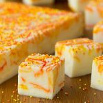 Candy Corn Swirled Fudge