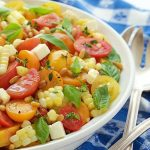 Fresh Corn and Tomato Caprese Salad