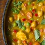 Chicken, Carrot and Chickpea Coconut Curry