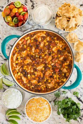 Healthy Chicken Black Bean Chili