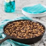 Chocolate Chip Toffee Skillet Tart-3