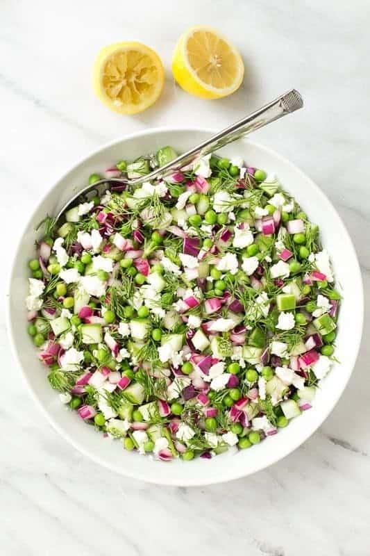 Chopped Cucumber Dill Salad