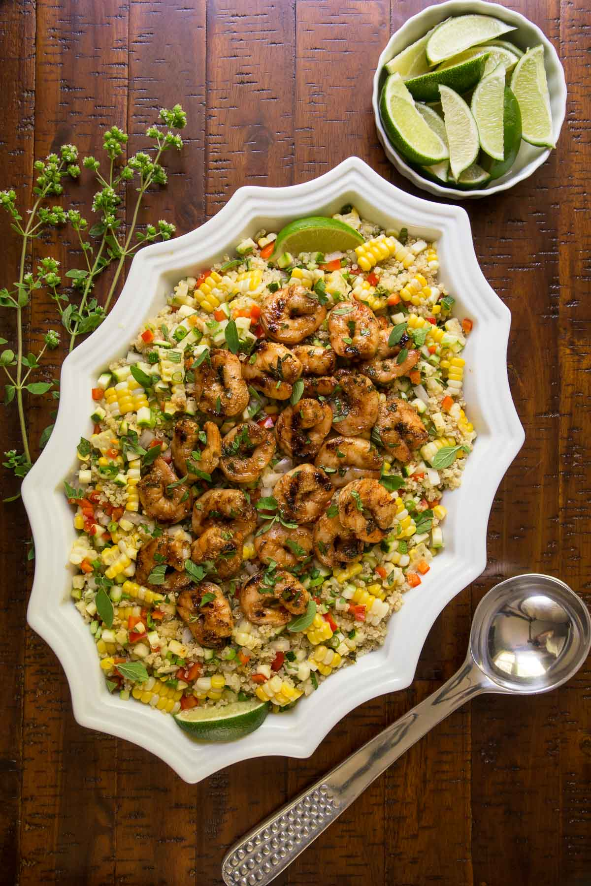 ChoppedMexican Quinoa Salad with Chili Lime Shrimp