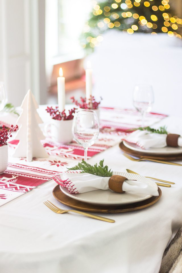 Photo of holiday tablescape ideas from Shades of Blue Interiors.