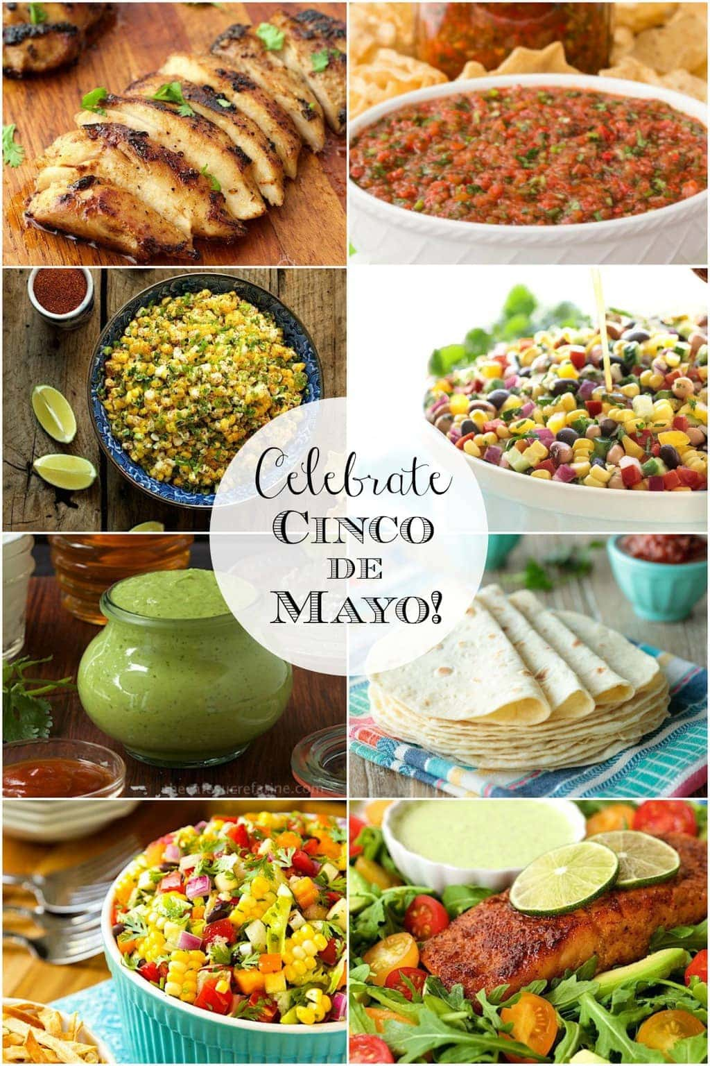 Collage of Mexican Cinco de Mayo Recipes.