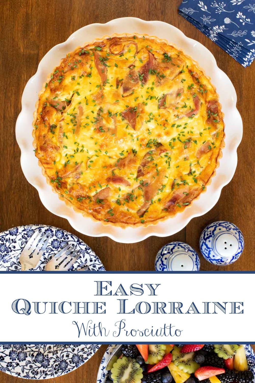 Classic Quiche Lorraine with Prosciutto