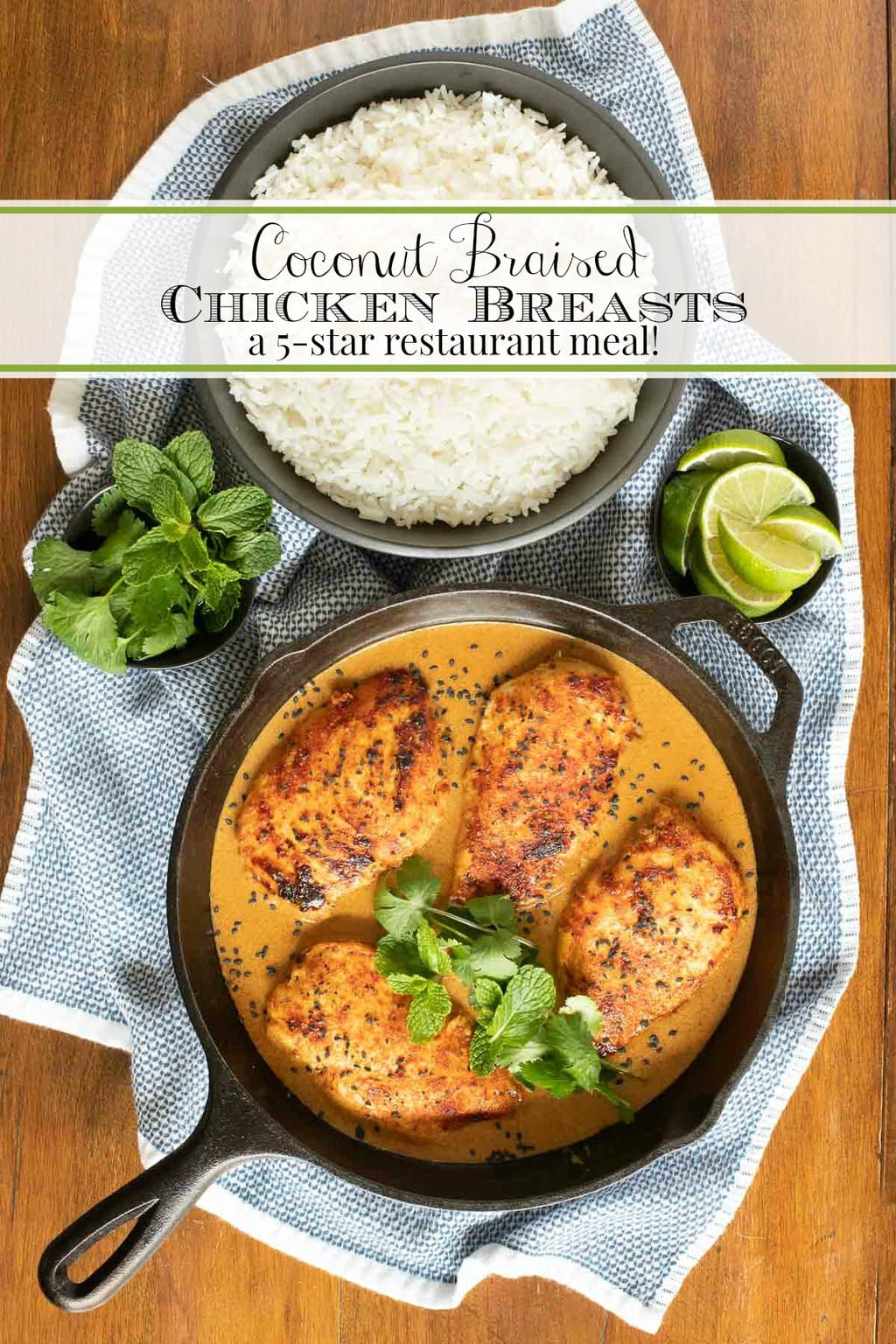 Coconut Braised Chicken Breasts