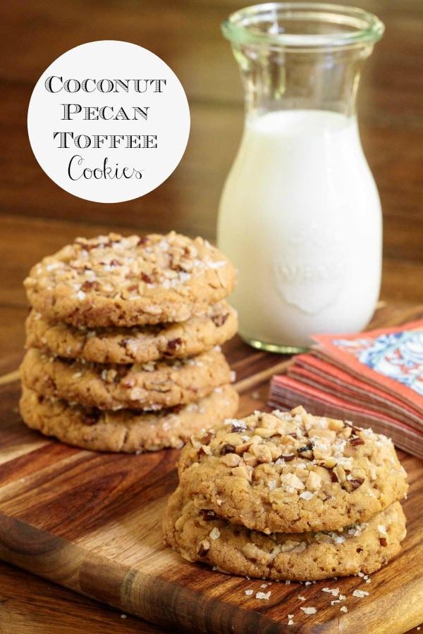 Coconut Pecan Toffee Cookies