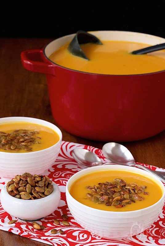 Copycat Panera Autumn Squash Soup - have you tried this soup at Panera? Oh my word, it's wonderful and I think this one's really close! www.thecafesucrefarine.com