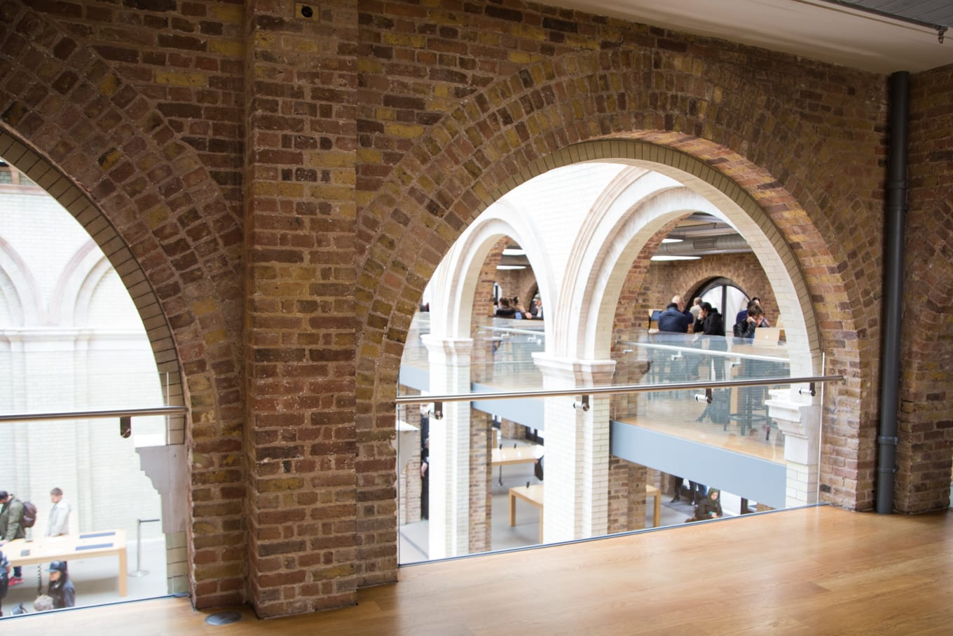 Interior architecture photo of the Apple Store at Covent Garden, London UK