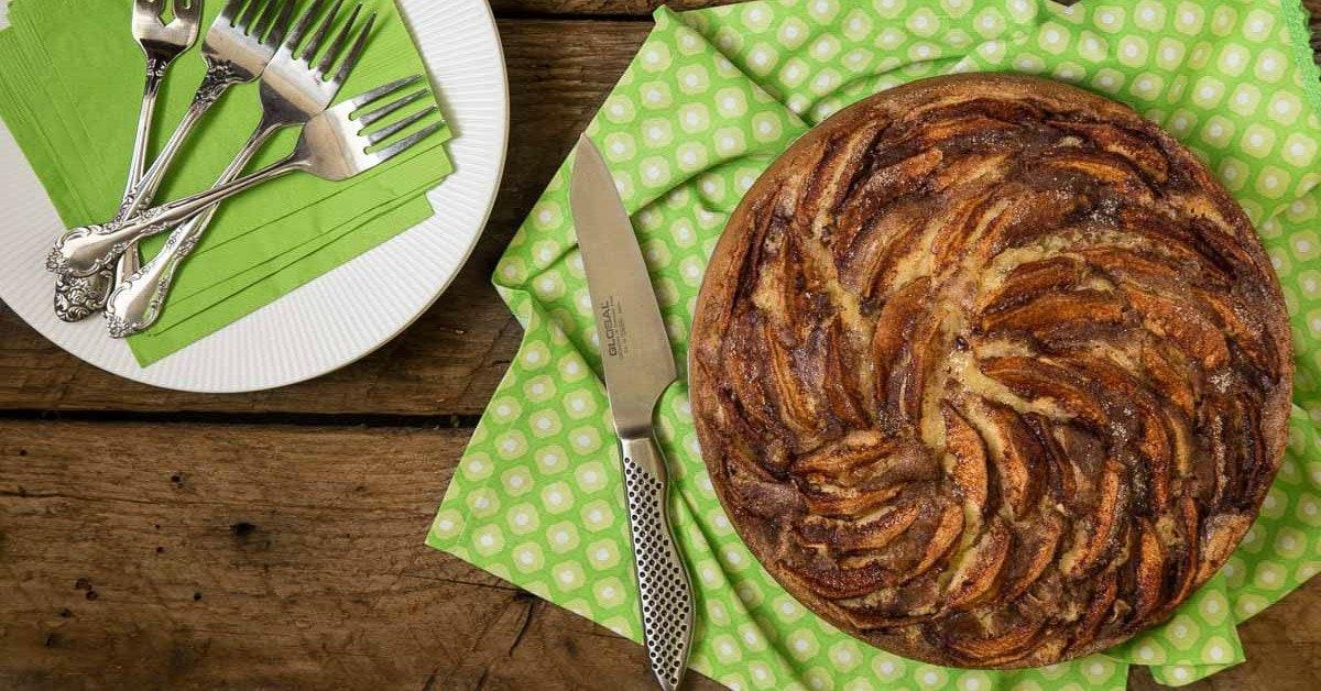 Danish Apple Cake Aeblekage The Cafe Sucre Farine