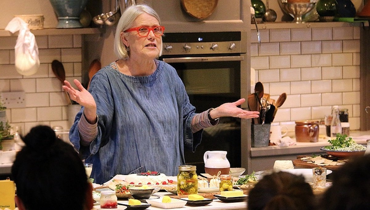 Photo of Darina Allen, founder of the Ballymaloe Cookery School in Shanagarry, Ireland.