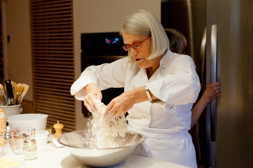 Photo of Darina Allen, founder and chef at the Ballymaloe Cookery School in Shanagarry, Ireland.