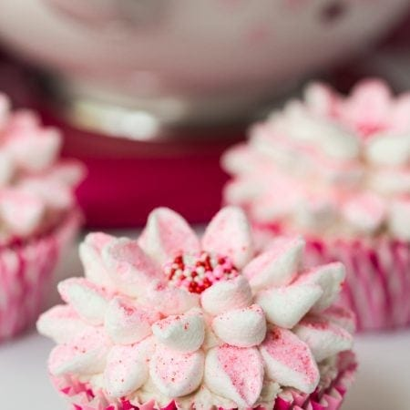 Easiest Best Ever Chocolate Cupcakes - the name says it all and the marshmallow flower decorating technique makes them perfect for parties and celebrations