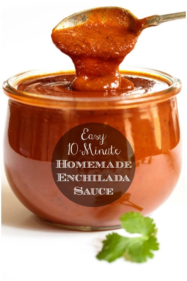 Our 10-Minute Homemade Enchilada Sauce is loaded with fabulous South of the Border flavor and can be used in lots of delicious ways! #easyenchiladasauce #homemadeenchiladasauce #redenchiladasauce
