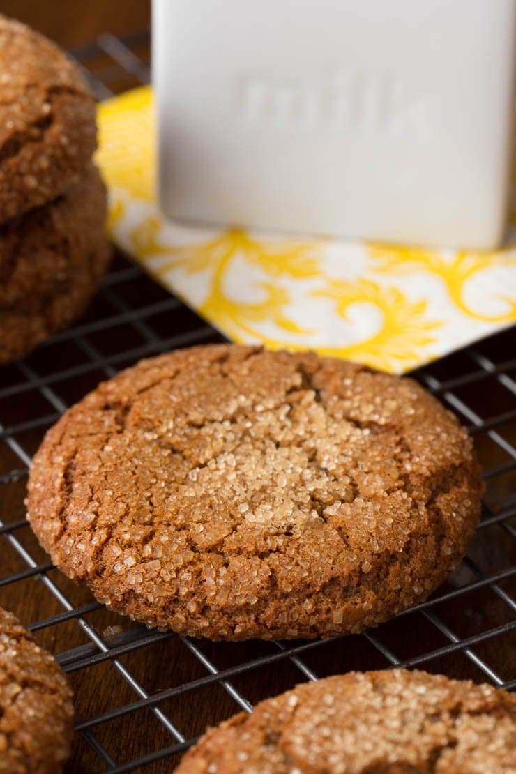 Easy Bakery Style Molasses Cookies