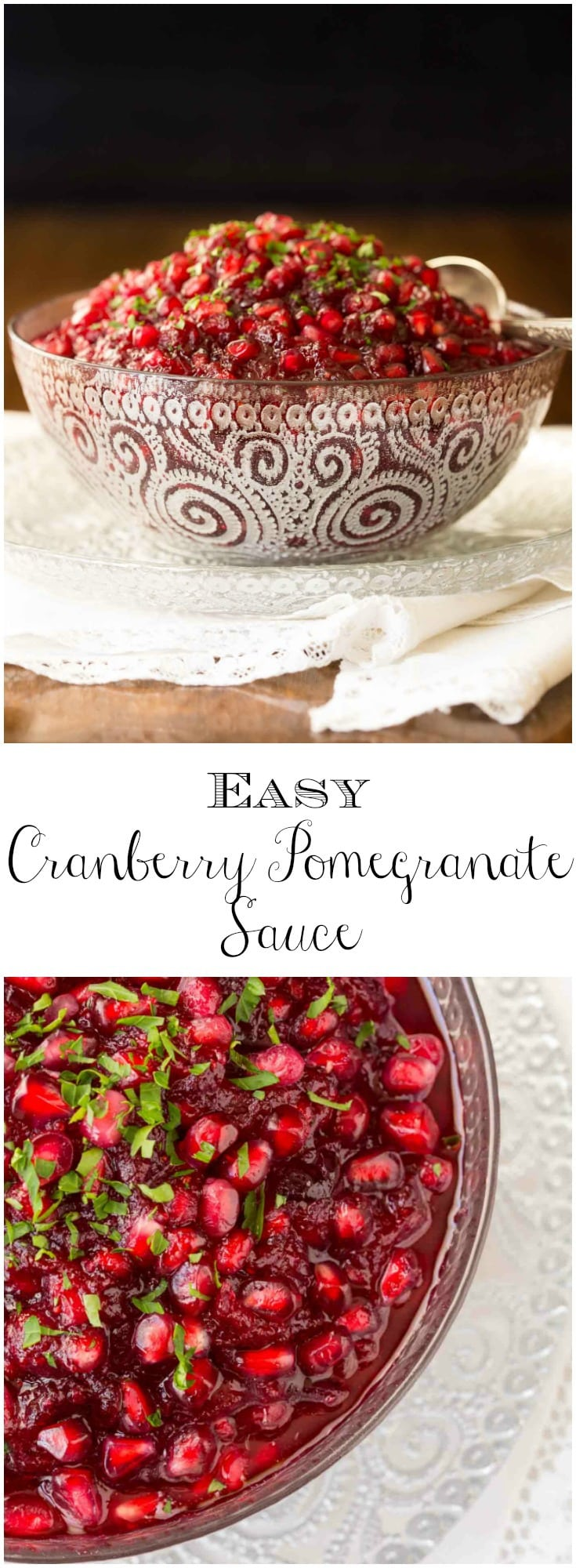 Easy Cranberry Pomegranate Sauce - the easiest , most delicious cranberry sauce ever with ginger, lemongrass and pomegranates!