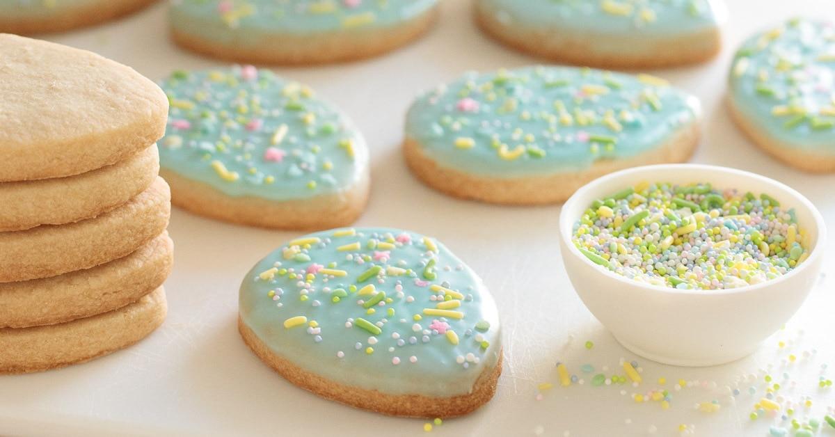 Spring Shortbread Cookies Pinterest