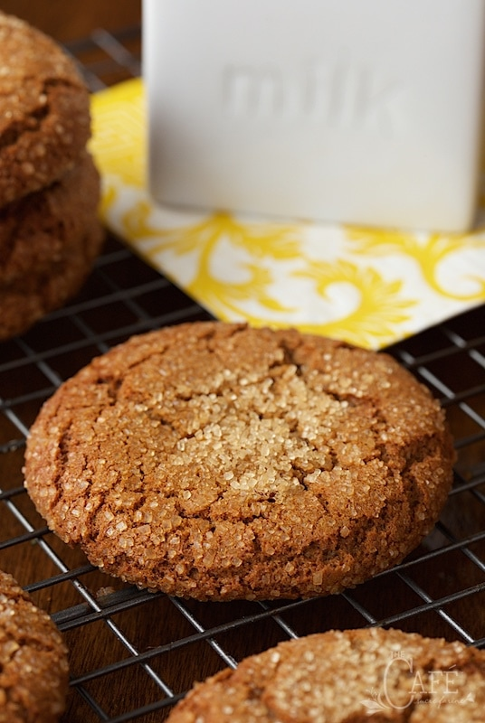 These Easy Bakery-Style Molasses Cookies are just like the cookies you find in a fine bakery, except you can mix the dough up in one bowl in just ten minutes - and they cost WAY less! www.thecafesucrefarine.com