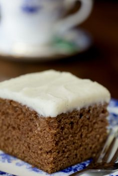 Easy Gingerbread Cake with Vanilla Bean Icing