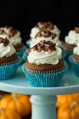 Easy Pumpkin Cupcakes + KitchenAid Giveaway