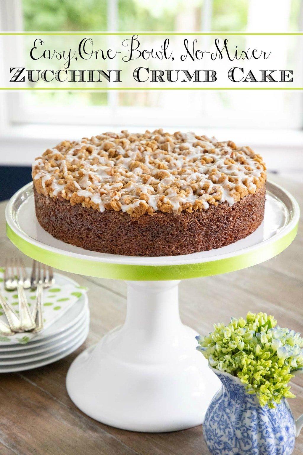 Easy Zucchini Crumb Cake