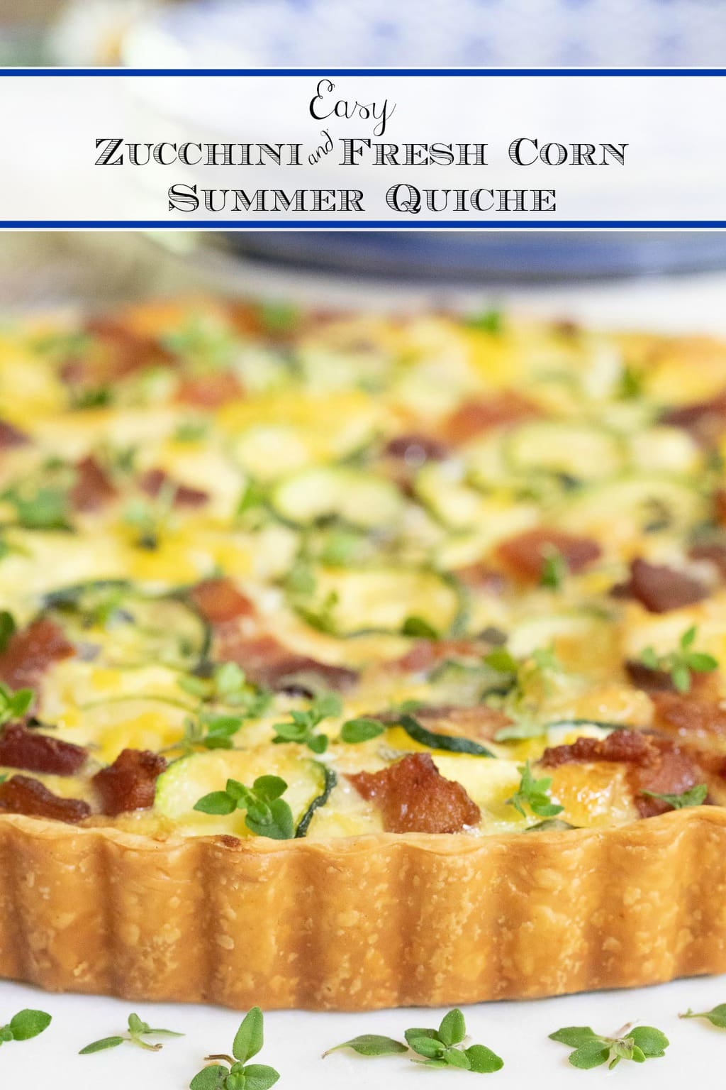 Easy Zucchini Summer Quiche