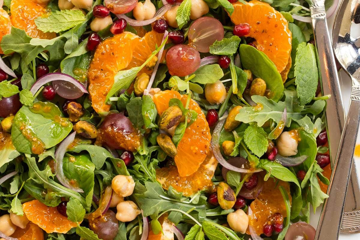 Fall Salad with Pumpkin Maple Vinaigrette